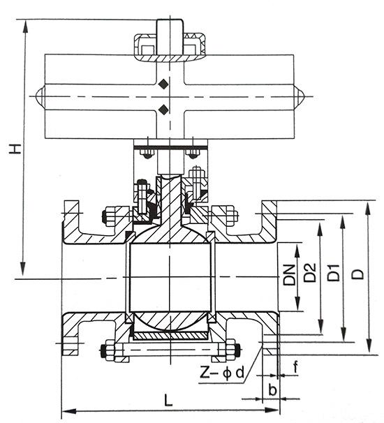 气动衬氟法兰wwwyabo124结构示意图