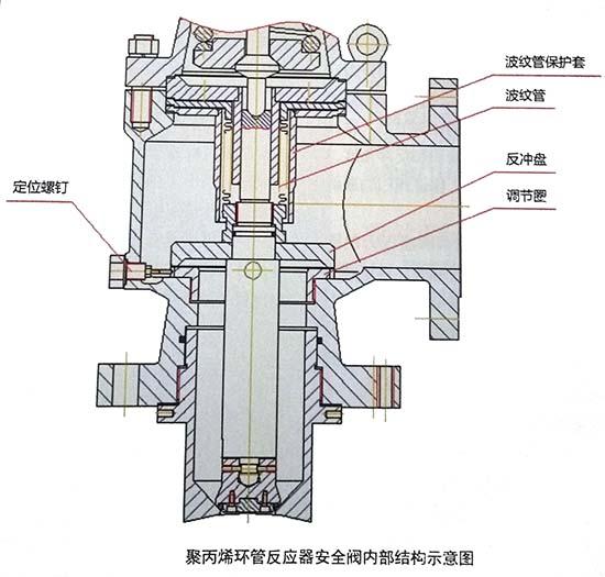 聚丙烯环管反应器安全阀内部结构示意图