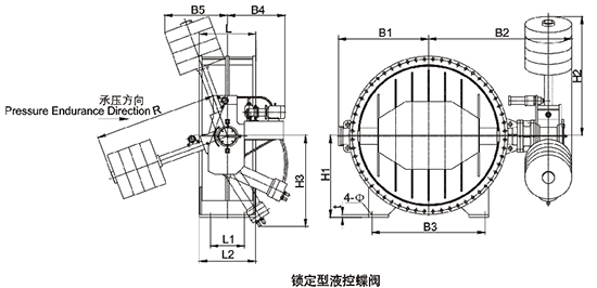 锁定型液控蝶阀结构图