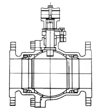不锈钢涡轮法兰wwwyabo124结构示意图