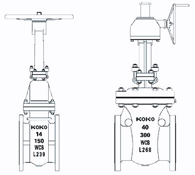 铸钢闸阀结构图