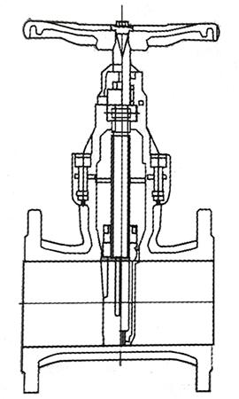 弹性座软密封闸阀结构示意图