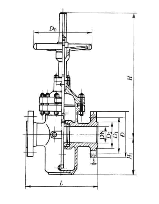 平板闸阀结构示意图