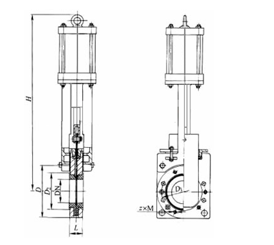 气动刀闸阀结构图