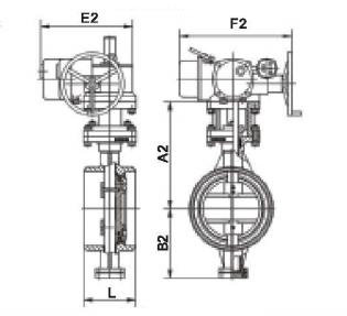 三偏心焊接硬密封电动蝶阀结构